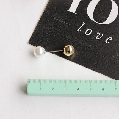 Nuovo spilla moda anti-esposizione del tutto-fiammifero doppio intestata cardigan Pearl pin perla collare pin rdOIG