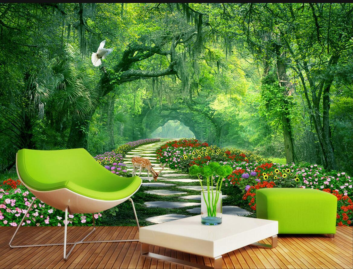 Árbol de la naturaleza del paisaje 3D gran mural para las paredes de la sala 3 d Inicio decoración de la pared Papel de parede 3d del papel pintado
