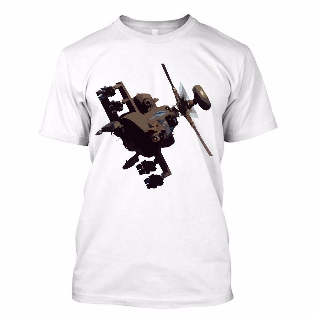 спорт New 2019 Fashion T Shirt Men Основные модели Boeing AH-64 Apache I Love АРМИЯ хип-хоп улица футболки Мужской батареи Смешные хлопок Tops