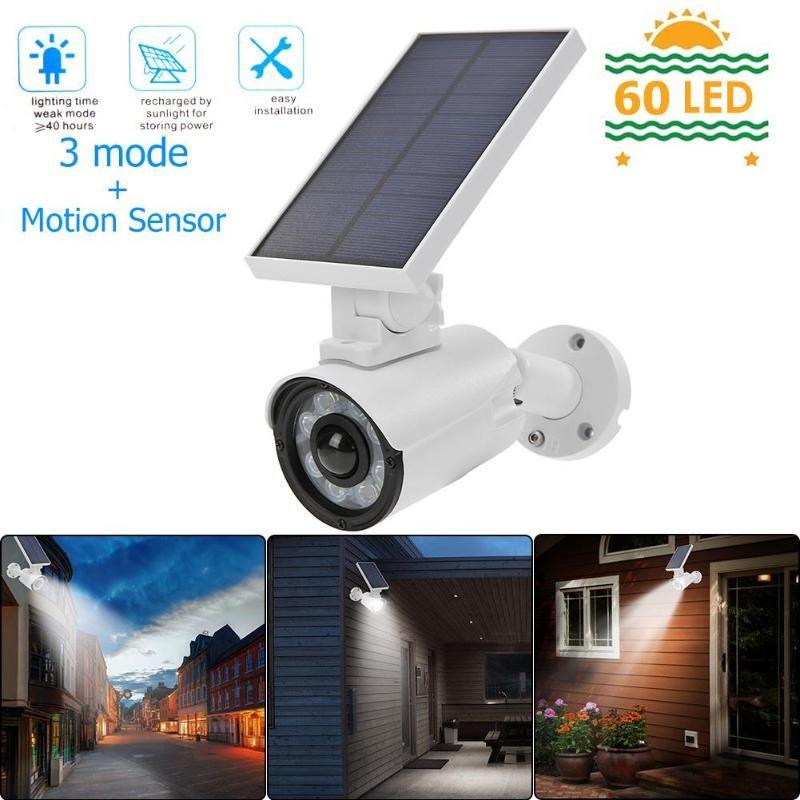 모션 센서 LED 태양 벽 빛 800lm IP66 방수 램프 감시 카메라 벽 조명 야외 보안 가든 파티오 램프
