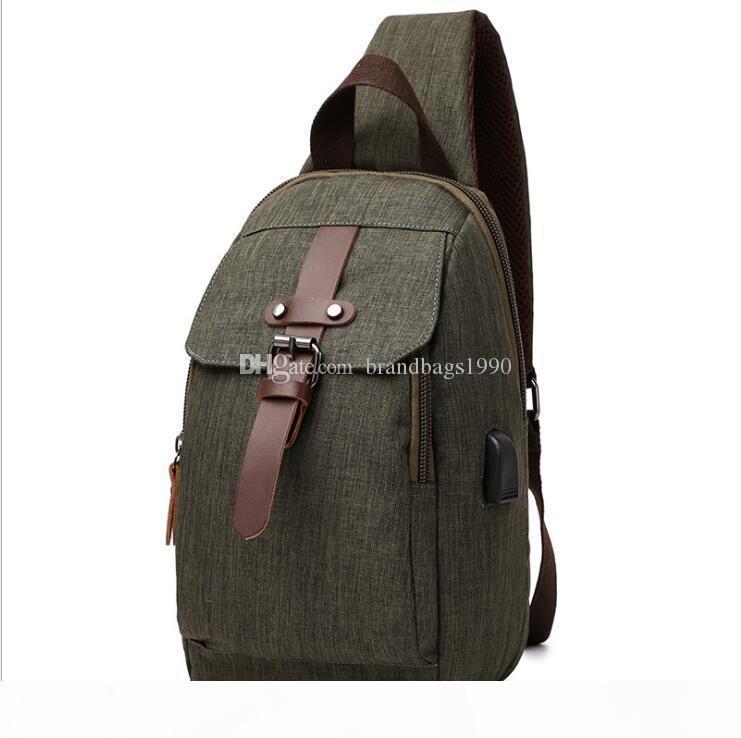 un sacchetto Strap bagagli esercito verde zaino di stile borsa da viaggio singola cinghia di colore solido zaino Impermeabile per studenti delle scuole medie s liberi