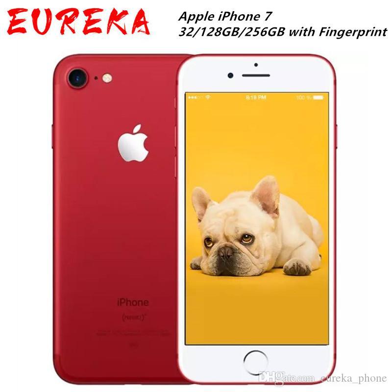 Entriegelte Apple iPhone 7 4G LTE-Handy 32 / 128GB / 256GB IOS 12.0mp Kamera Quad-Core-Fingerabdruck-12MP 1960mA