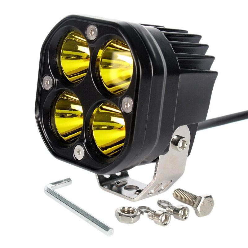 3 pollici ha condotto la luce del lavoro Giallo Riflettori Offroad 4X4WD camion dell'automobile SUV di guida della lampada