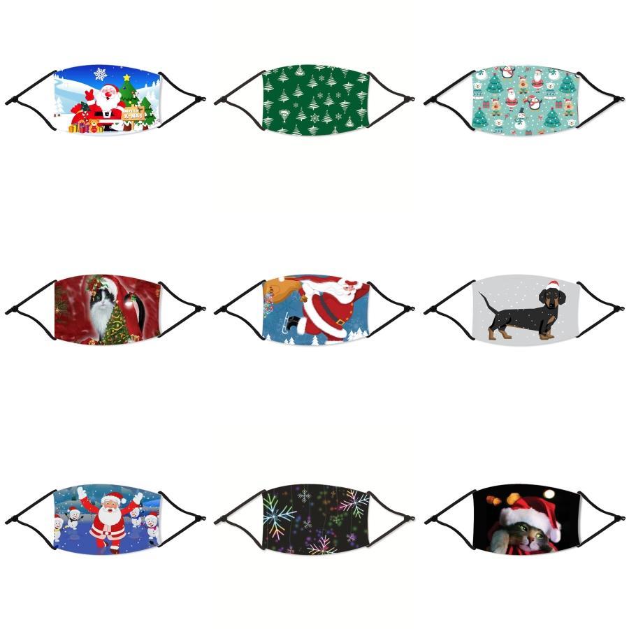 PM2,5 niños activado Patrón de carbono S oso contra salpicaduras y polvo Splatte Cara de Navidad máscara máscaras a prueba de viento de la boca de Navidad Mascherine 7 # 292