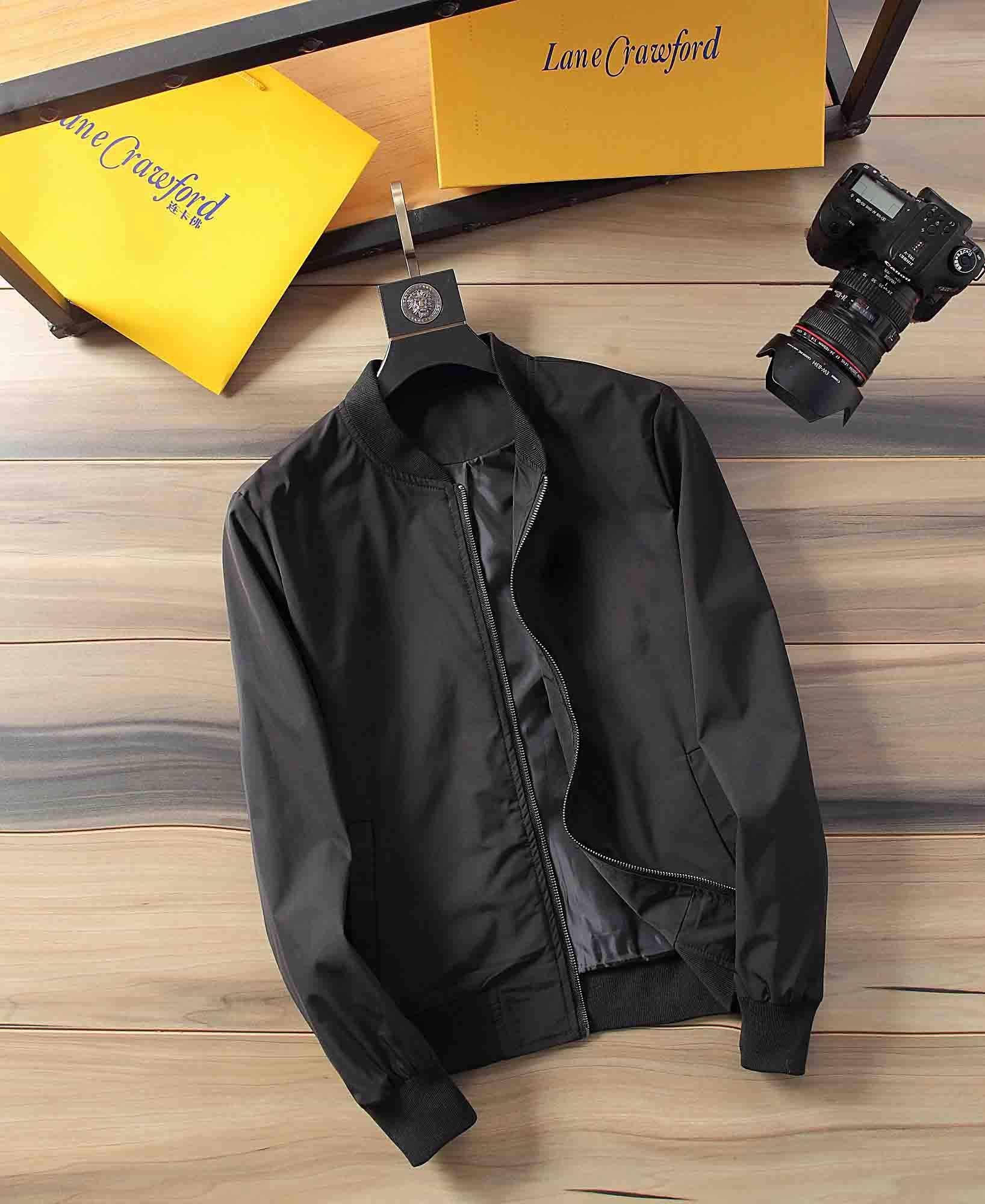 2020 otoño e invierno nueva cremallera carta bombardero de lujo de los hombres de la chaqueta de los hombres ~ tops chaquetas de alta calidad de diseño de los hombres