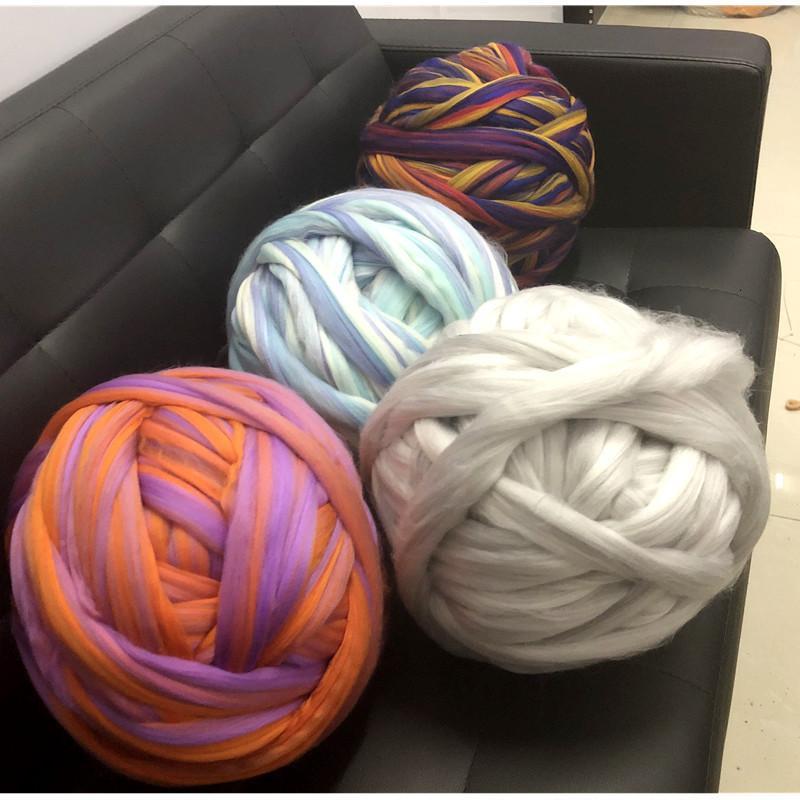 8cm super voluminosos Brazo hacer punto de acrílico Roving la manta hecha punto grueso de lana Hilado de Super Thi hilado para hacer punto / ganchillo / alfombras / Sombreros