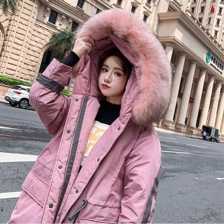 Les femmes hiver chaud vers le bas Veste en coton rembourré Porter Parkas Lady coréenne manteau épais de poche Femme Harajuku Outwear