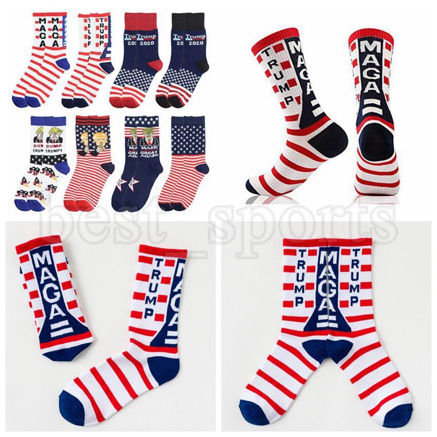 Trump Socks Présidente Maga Trump Stapes Stars Sterned Stars Sports Sports Sports Chaussettes Maga Chaussette Favoris ZZA2719 Livraison Mer