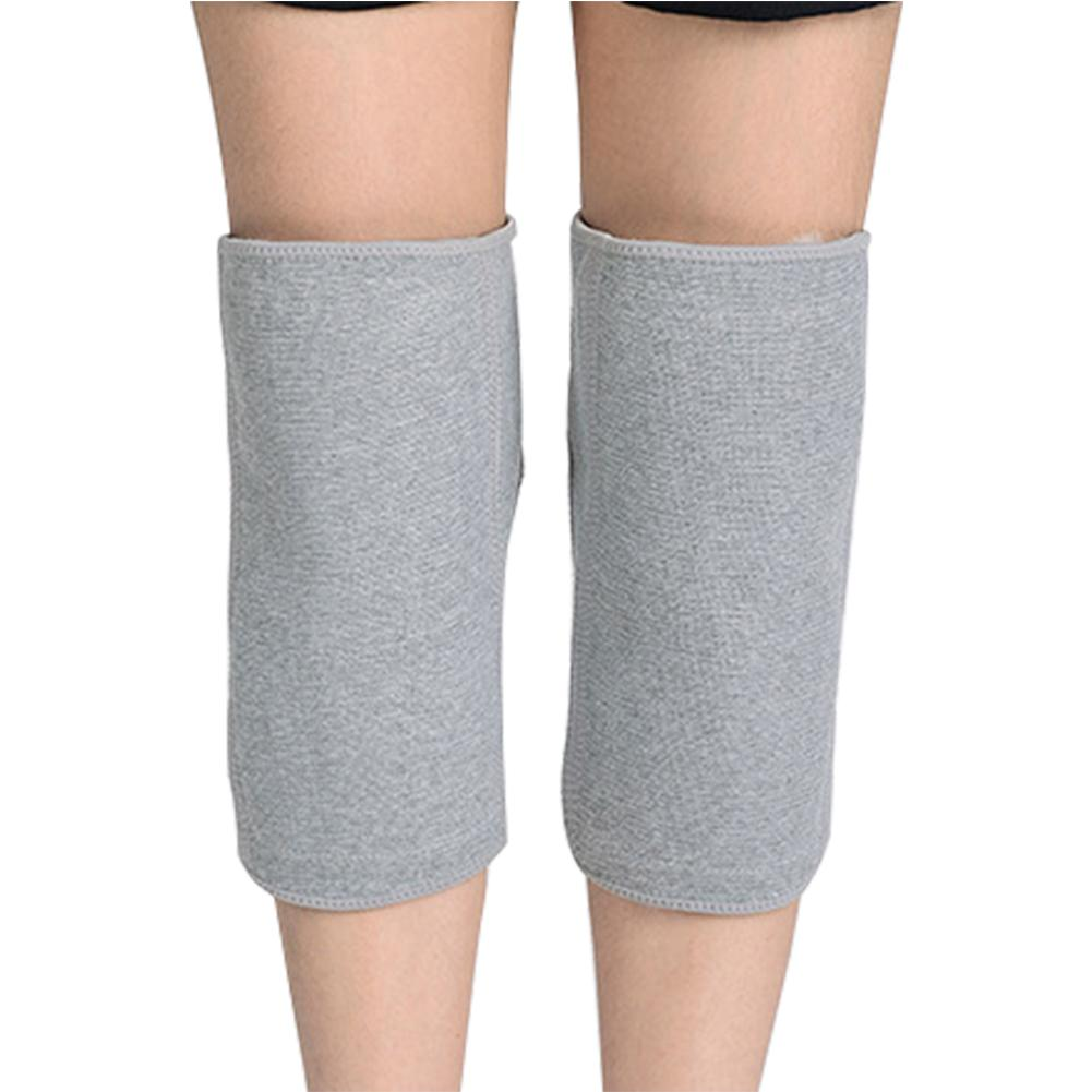 1 paio pelame corto durevole caldo elastico Inverno soft Knee Protector autoadesivo