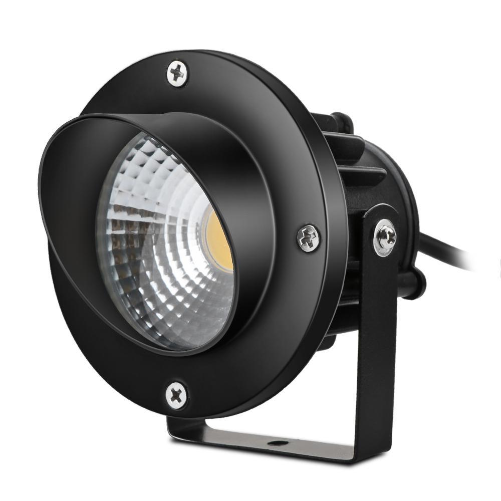 Multipurpose poupança 10W COB LED Lawn Flood Luz Quintal Pátio Path Spotlight Lamp com Spike AC 85-265V Warm White EUA plug de energia