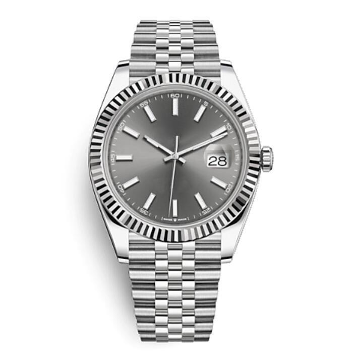 venta Hott mecánico automático de los relojes de los hombres de 41 mm de acero inoxidable Datejust zafiro de cristal sólido de cierre presidente para hombre reloj de pulsera resistente al agua