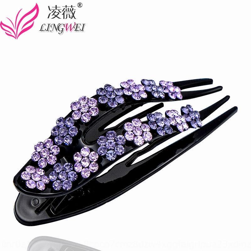 ndAPp Horn strass copricapo Horn copricapo strass coreano fiore capelli accessori per adulti U clip elegante superiore dei capelli della clip antiscivolo