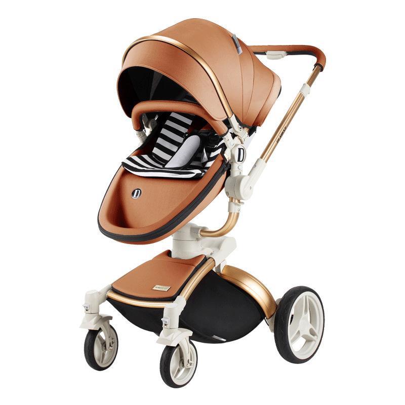 Diamante de lujo del cochecito cochecito de alta paisaje puede sentarse y acostarse evitar vibraciones cochecito de bebé