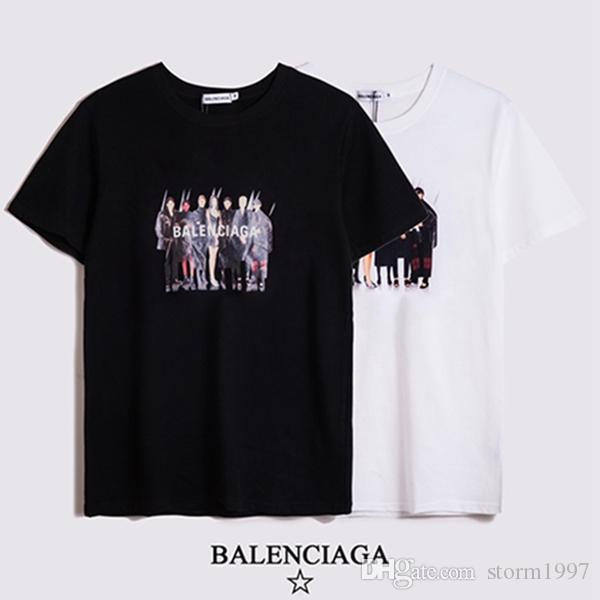 W7 precio al por mayor de moda de lujo 2020 de la nueva marca 100% de algodón para hombres Camisetas de alta calidad de los hombres del diseñador de los hombres de las camisetas casuales