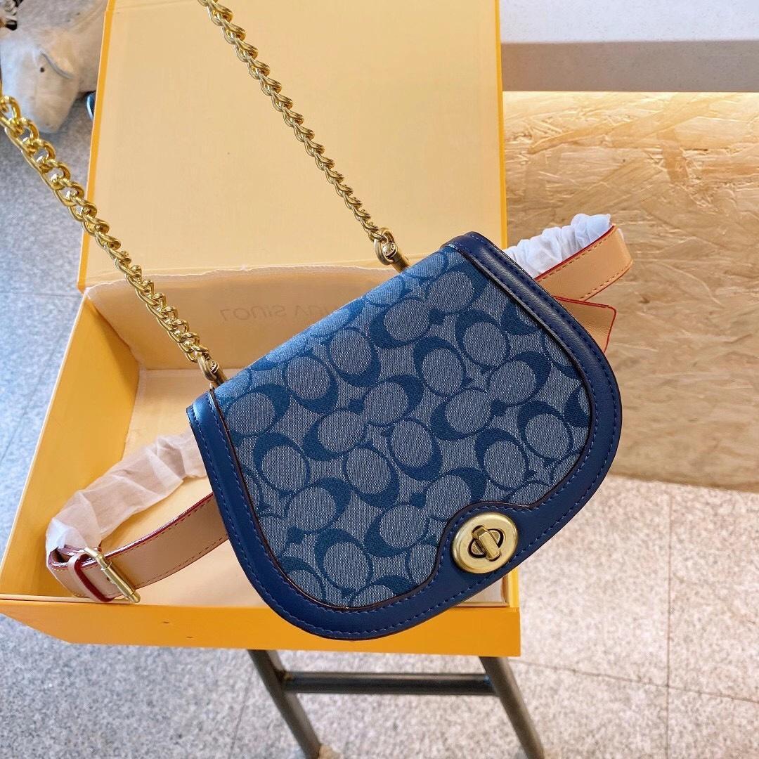 2020 mujeres del diseñador famoso bolso nuevo bolso de la letra del hombro alta calidad del cuero genuino Mensajero alforja bolsa de lujo FJ057