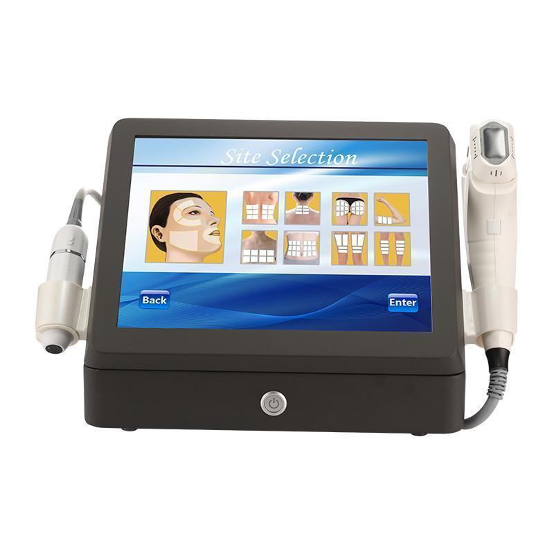 Nueva actualización! 2 en 1 4D 1-12lines HIFU y V-MAX centrado ultrasonido máquina de belleza corporal adelgazante Lifting de dispositivos para el hogar / Clínica / Salón