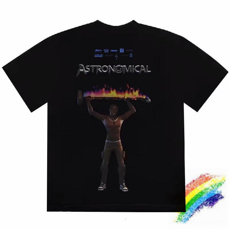 2020ss caliente camiseta de los hombres de las mujeres de alta calidad camiseta de los hombres Top Tees Negro