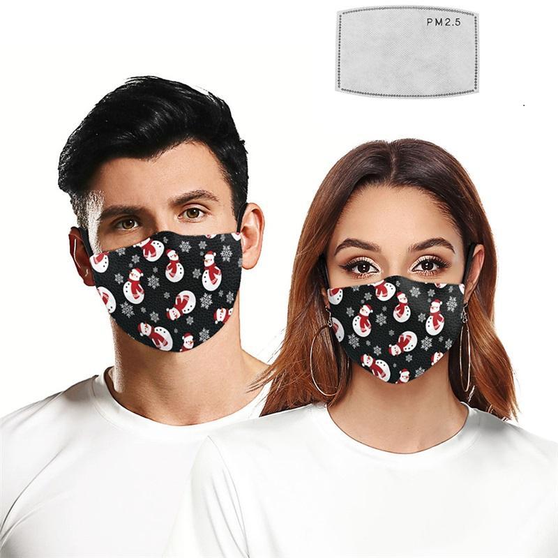 Рождество дышащий фильтра Маски РМ2,5 фильтр шт 3D Printed маска Регулируемая маска Дизайн Стиль Защитная маска T3I51039