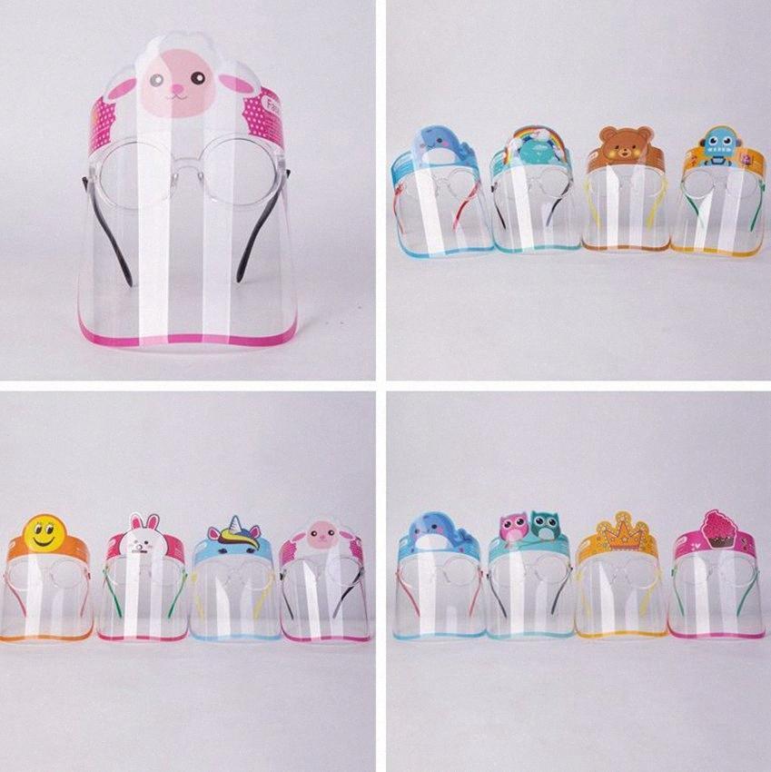 Çocuklar Çocuklar Tam Yüz Shield Cam Anti-Sis Açık Koruma Karikatür Tam Yüz Kapak Camlı tasarım maskeleri LJJK2444 R4gw # Maske