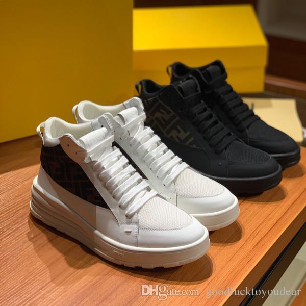 Neue Ankunft Art und Weise der beiläufigen Schuhe des Luxus Männer Outdoor-Training Sportschuhe Spleiß Leder Low-top klassische Plattformschuhe der Männer