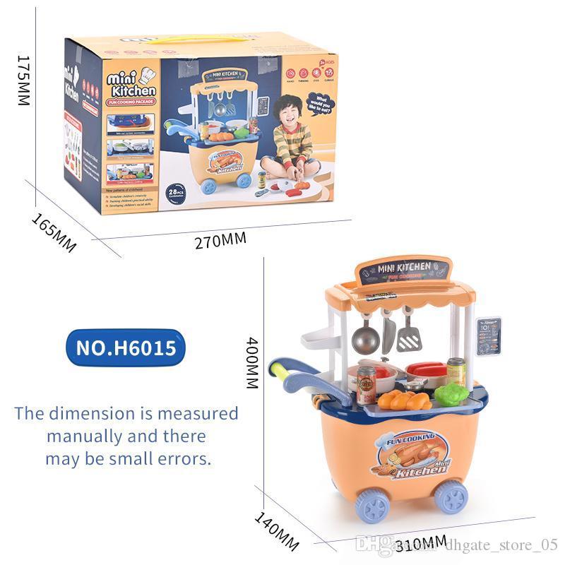 Kid Toy simulato Cucina Trolley Set gioco di finzione e Dress-up cucina officina del modello giocattolo per Boy Girl Baby Gift