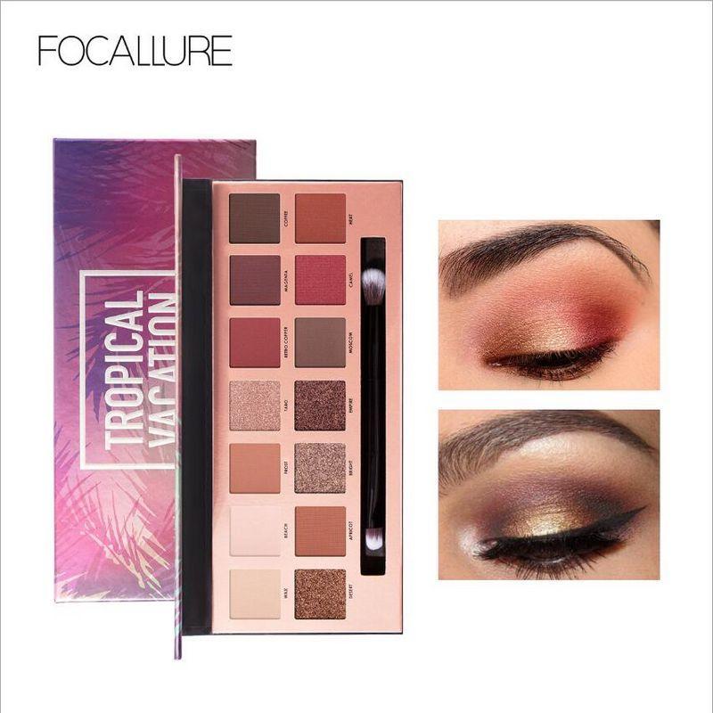 Focallure 14 ألوان ظلال العيون بريق ماكياج المهنية وميض ظلال العيون لوح النساء ماكياج التجميل الظل