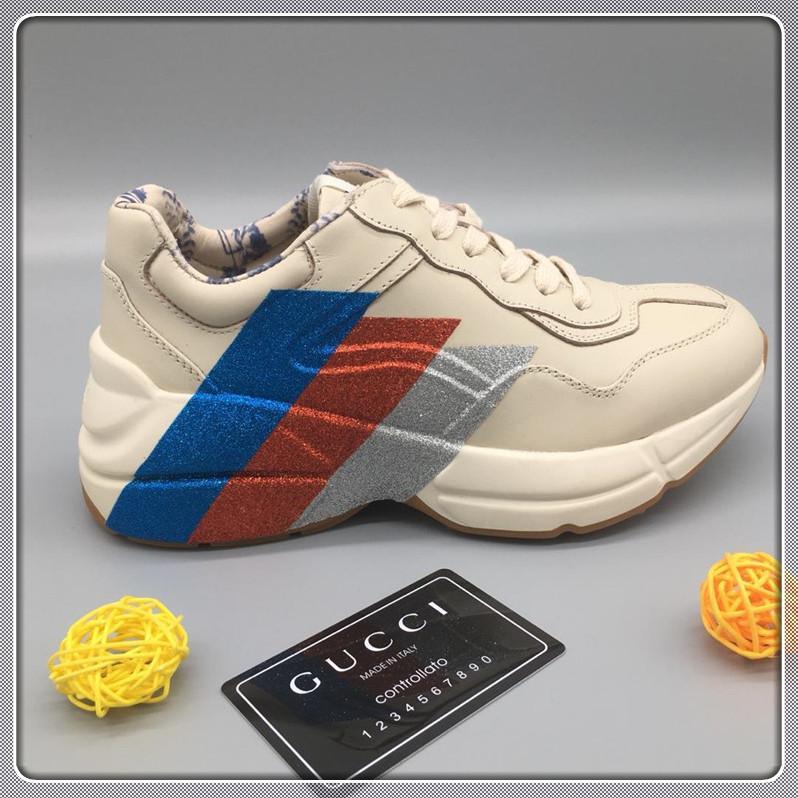 Top ancien concepteur de chaussures hommes de qualité et des femmes de luxe et des baskets plates confortables chaussures de mode 35-45