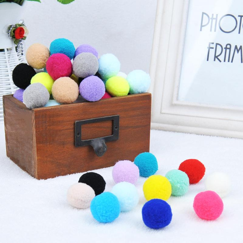 Cat Toys 36PSC Toy Silent Plush Ball Colorful Macaron Multicolor Puzzle Game Playable Suitable For All Cats Pet