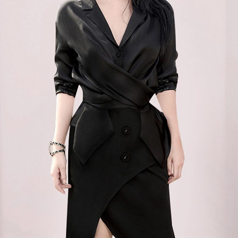 QFoom 2019 New Slim slim sexy Fashion elegant socialite skirt V-neck waist slimming skirt ol business two-piece suit set for women FRYgL