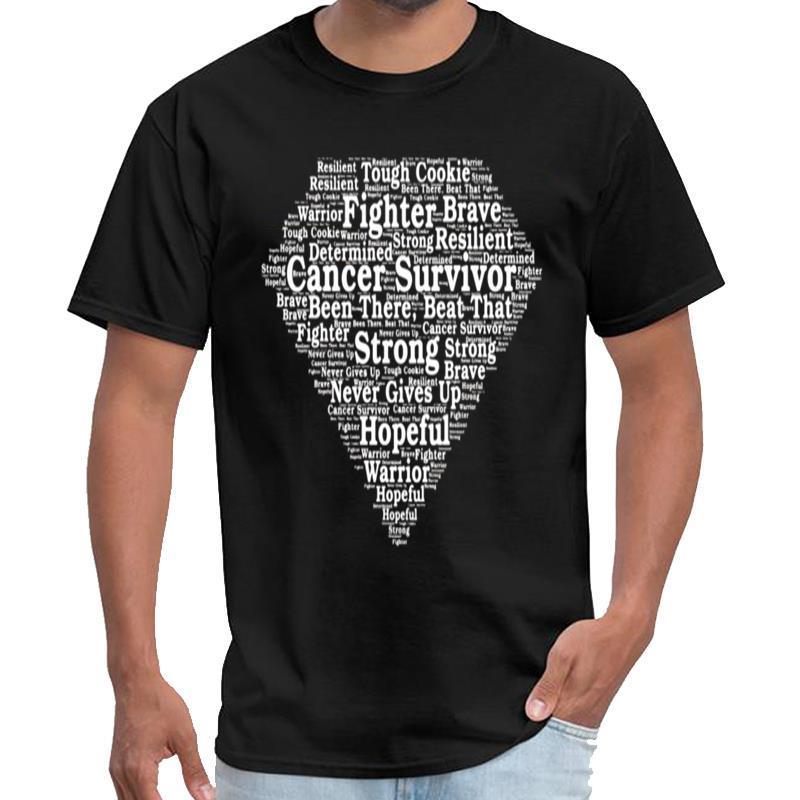Personalidade do sobrevivente do cancro do super-herói t shirt de algodão mulheres ropa camisa hombre t XXXL 4XL 5XL tee topos