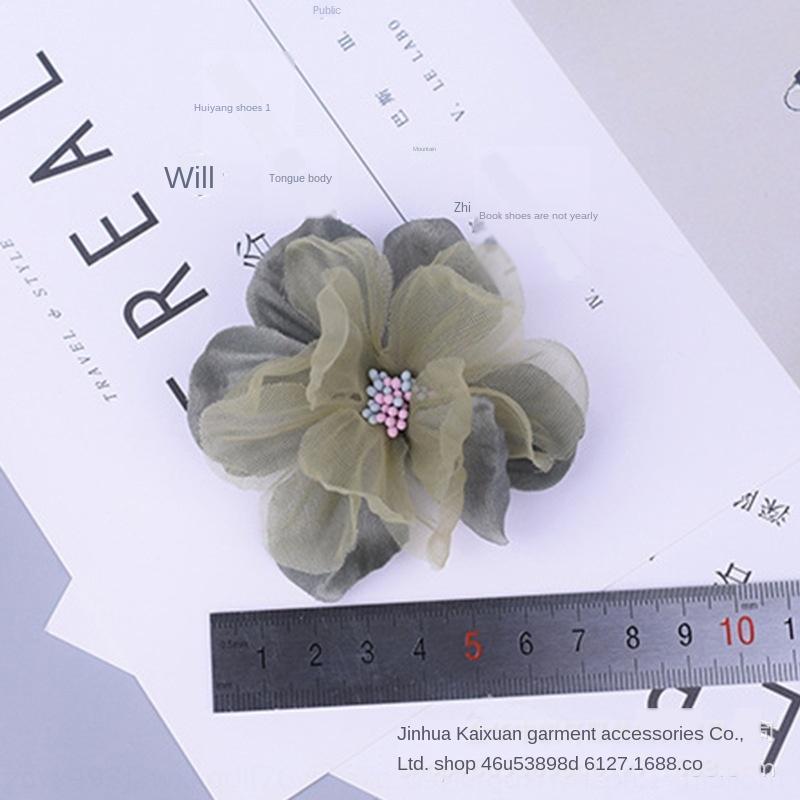 Koreanische Frauen der Art Diy Schmuck Kopfschmuck Korsage Frauen Schuhe und Hüte Kopfschmuck DIY Blumenzusätze Kleidung dekoratives Garn Blume i
