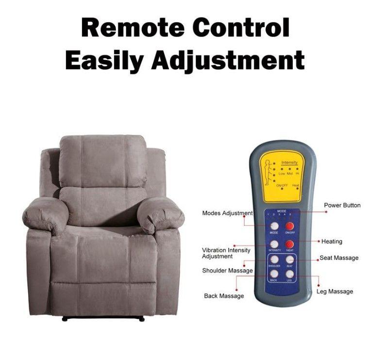Confortable 8 Vibration massage chauffant Fauteuil inclinable Canapé ergonomique Salon avec 8 Vibration Motors maintenant US Stock PP039116EAA vente Hot
