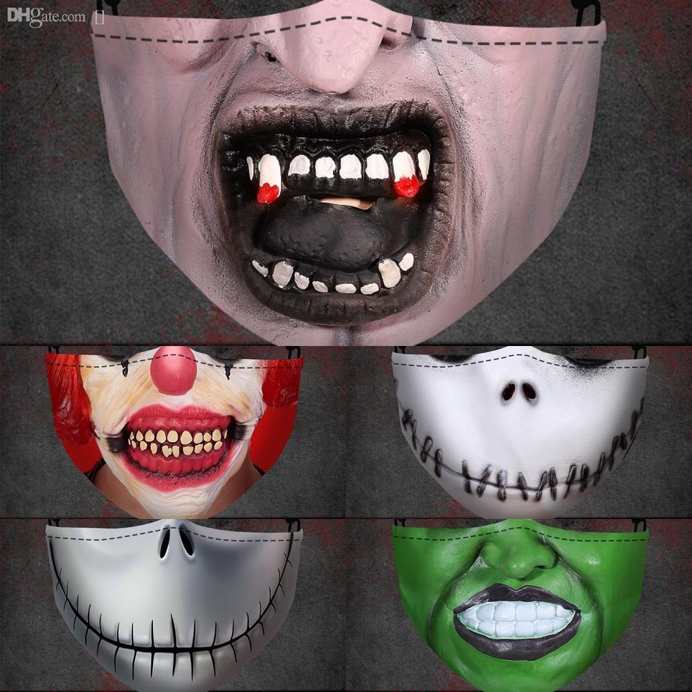 9EdQJ На складе Упаковки для лица с С Earloops против пыли WashableMouth Хэллоуиной маски маски маски Индивидуальных лиц Ice шелкового HHA