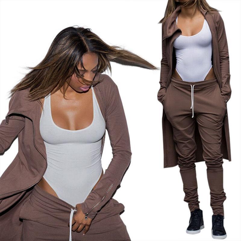 Sonbahar kış kadın eşofman iki parçalı set kat + pantolon bağbozumu setleri giyim kadın giysileri için 2 adet kıyafetler sweatshirt'ü womens