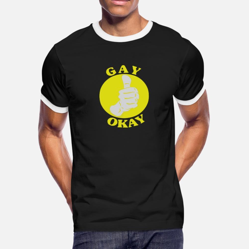 hommes Okay chemise t Gay graphique à manches courtes O cou graphique originale été Casual shirt Vintage