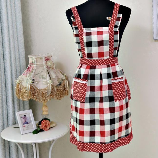 Oda Barbekü Sıcak Satış Yemek Komik Pamuk Önlük Önlüğü Pişirme Kadınlar Lady Mutfak Önlüğü Elbise Restoran Home Kitchen Pocket