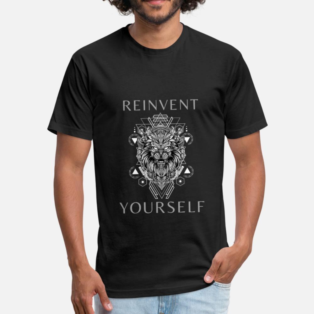 Футуристический стимпанк лев говорит Reinvent самой тенниска мужчина печати хлопок круглого воротник костюм Сумасшедшего Повседневной весна осень Kawaii рубашка