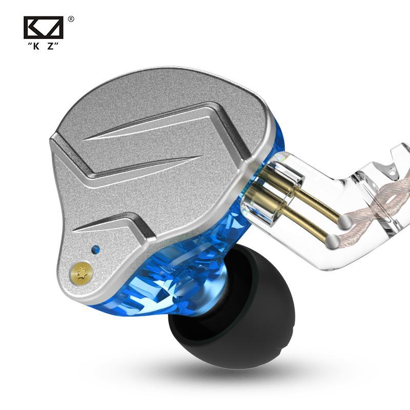 KZ ZSN برو في الأذن التكنولوجيا الهجينة 1BA + 1DD HIFI باس المعدنية بلوتوث الرياضة الضوضاء الغاء سماعة مراقب