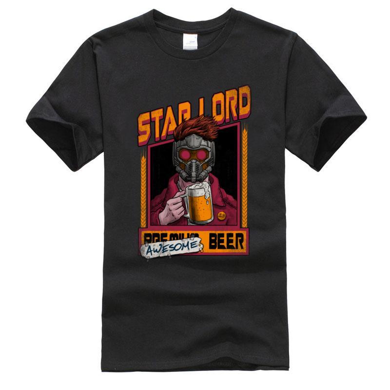 Para hombre de las camisetas de la cerveza de la vendimia impresionante versión de algodón cuello redondo manga corta de diseño de marca de camisetas Top Verano Otoño Streetwear