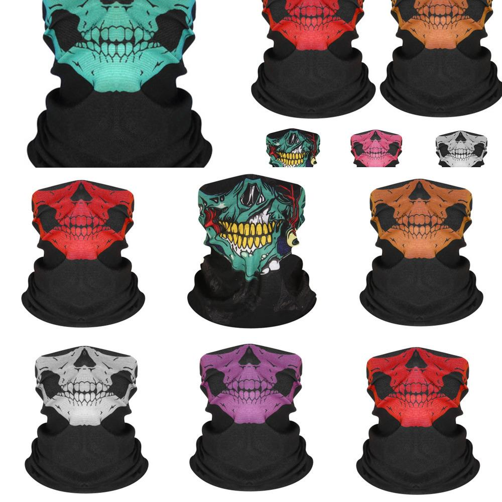 Máscaras turbante Pañuelos cara del cráneo esqueleto magia deportes al aire libre del fantasma Pañuelos diadema de ciclo de la motocicleta Wrap Cca11237 # 800