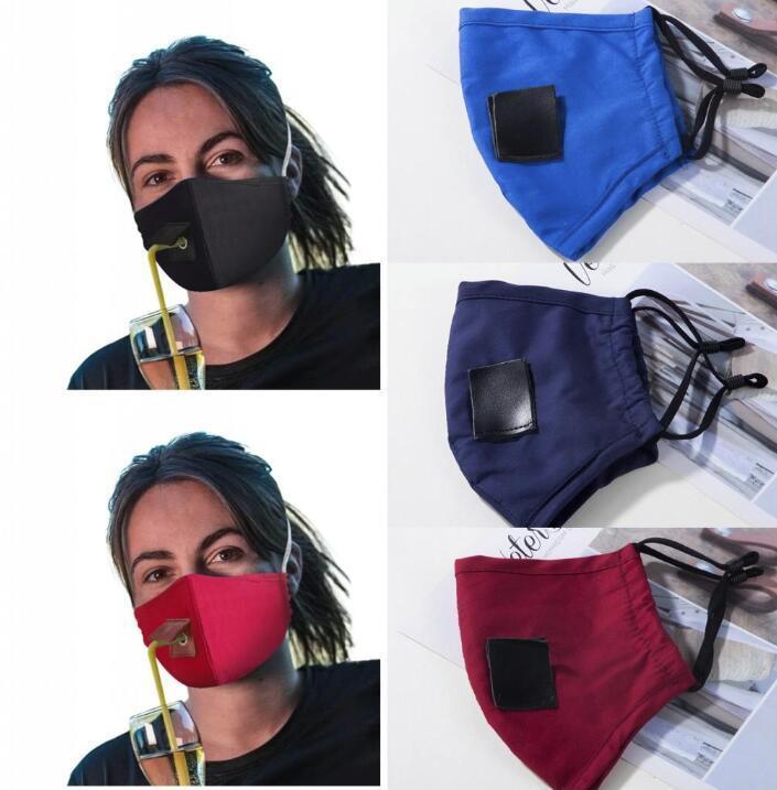 US-Stock-Adult Anti Pollution Nebel Cotton Mouth Straw Maske wiederverwendbare waschbare Staubdichtes Schutzgesichtsabdeckung Party-Getränk Masken FY6092