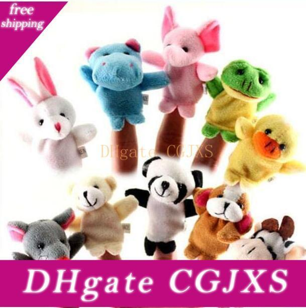 In Stock Unisex Toy Finger Puppets Finger Animals Toys Cute Cartoon Children S Toy Stuffed Animals Toys