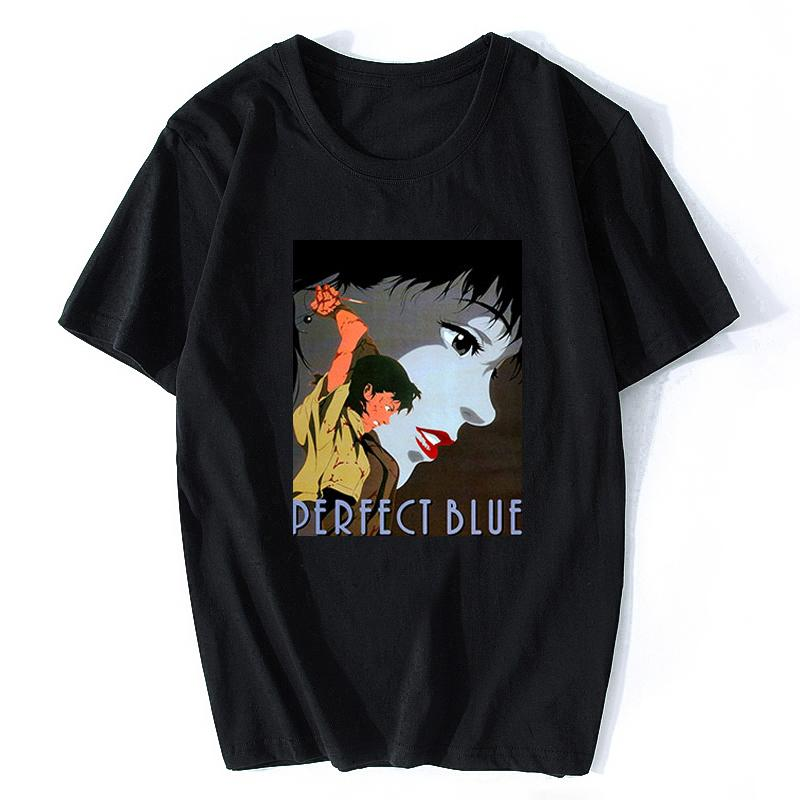 Perfect Blue Anime japonês T-shirt Homens Cotton T Shirt New Couple 2020 ama o design do verão T-shirt Homens Cotton T Shirt Vintage