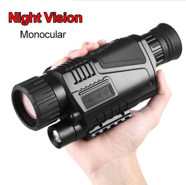 الأشعة تحت الحمراء ليلة الرؤية الرقمية أحادي العين تلسكوب ذات الاستخدام المزدوج يوم ليلة الصيد جهاز 5MP صورة تسجيل فيديو