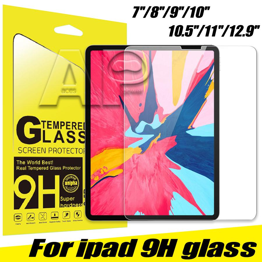 Закаленное стекло 0,3 мм защитники экрана для iPad Pro 12,9 дюйма воздуха 2 3 10,5 2019mini 2 4 5 с пакетом