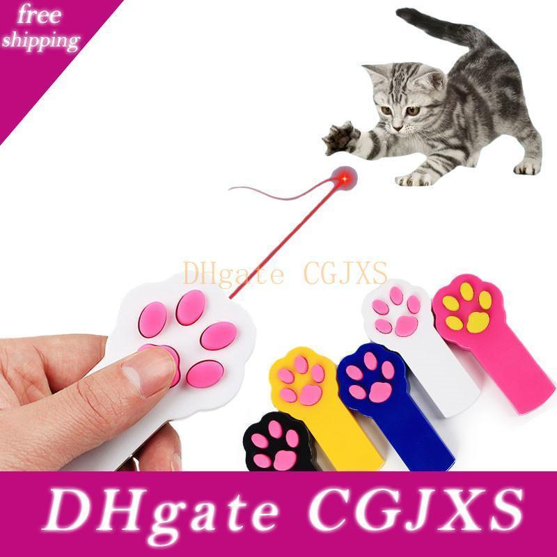 Funny Paw Shaped Electric Cat Laser Pointer Toys Kittens Cat Play Interactive Automatic Led Light Pen Exercise Pet Products