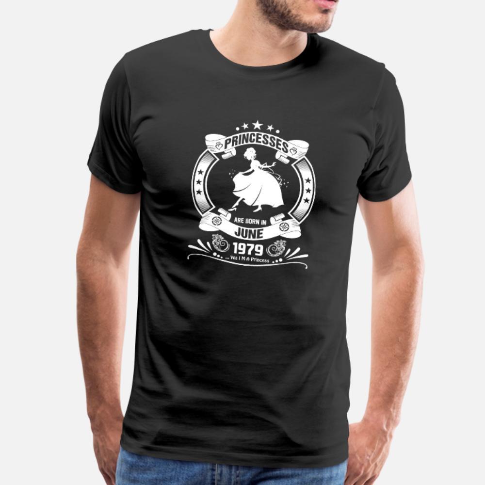 Priencess Naissent En Juin 1979 t shirt homme Imprimer T-shirt col rond normal fou été bâtiment chemise mince