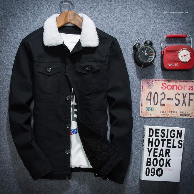 Fashion Casual Maschio Abbigliamento Uomo Jacket 2020 Designer Autunno Inverno manica lunga solido colore del cappotto di spessore