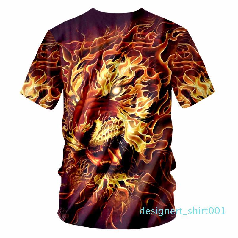OGKB T-shirt Homme Mode O Neck 3D T-shirts imprimés Roi Lion Hip Hop 6XL Habiliment Homme Printemps T-shirt Whosale d01