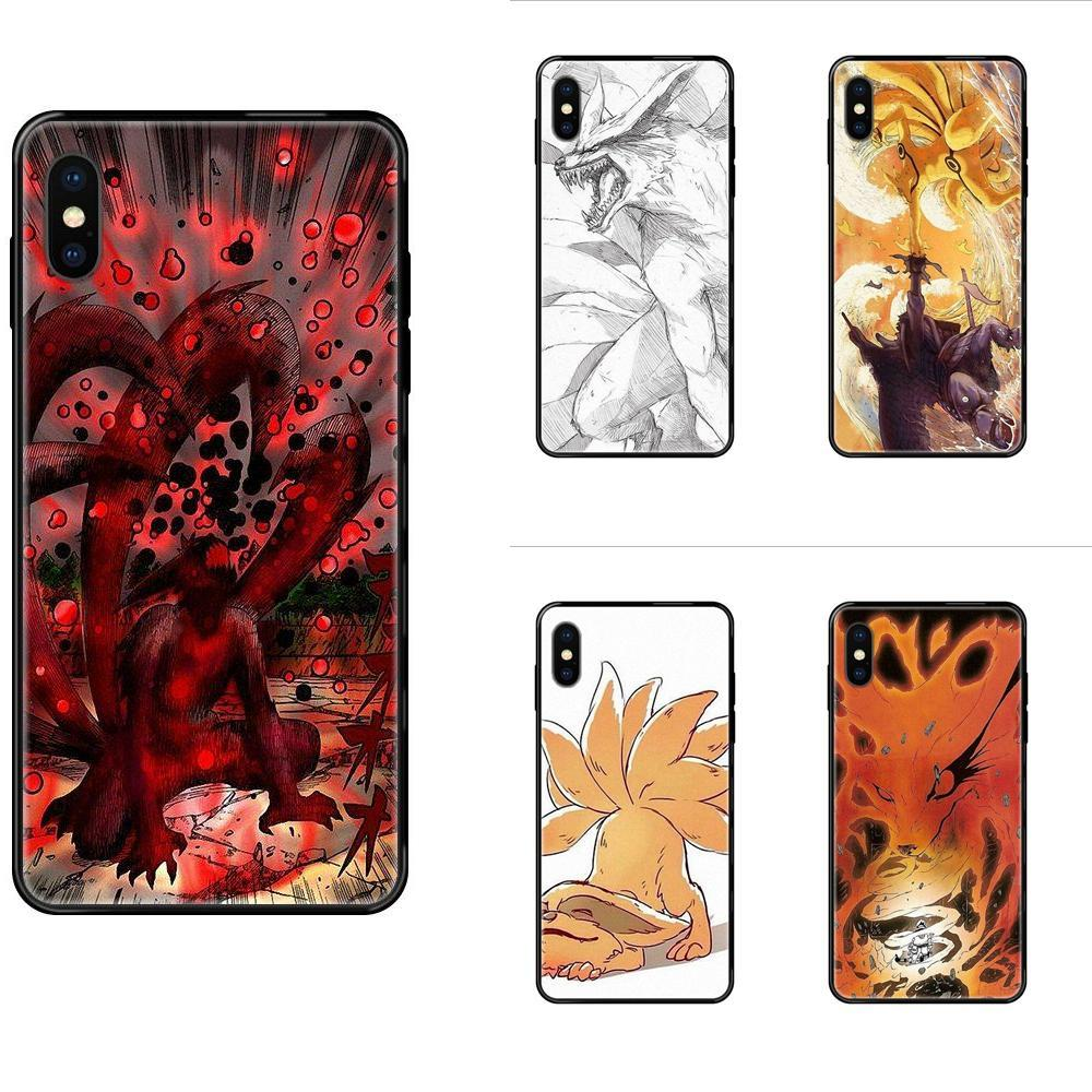 Soft Tpu Phone Case Cover Naruto Kurama Kyubi For iPhone 11 12 Pro Max Plus Pro X XS Max XR 8 7 6S SE 5 5C 5S SE 2020